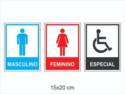 Imagem 1 de 4 de Kit Placas Para Banheiro 20 Unidades De Cada Atacado