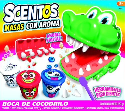 Masas Con Aroma Dentista Cocodrilo Scentos Playset Educando