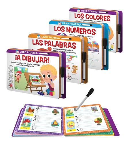 Colección Libros Pizarra C/ Actividades Lúdicas Y Educativas
