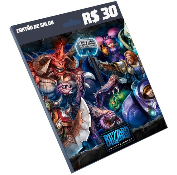 Cartão Blizzard R$30 Reais World Of Warcraft Wo Battle.net