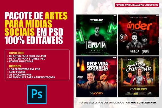 Pacote De Artes Para Mídias Sociais Em Psd 100% Editáveis #2