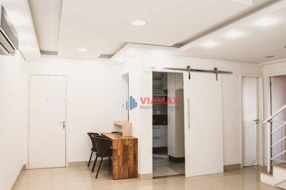 Cobertura Com 2 Dormitórios À Venda, 140 M² Por R$ 739.000 - Jardim Aquarius - São José Dos Campos/sp - Co0056