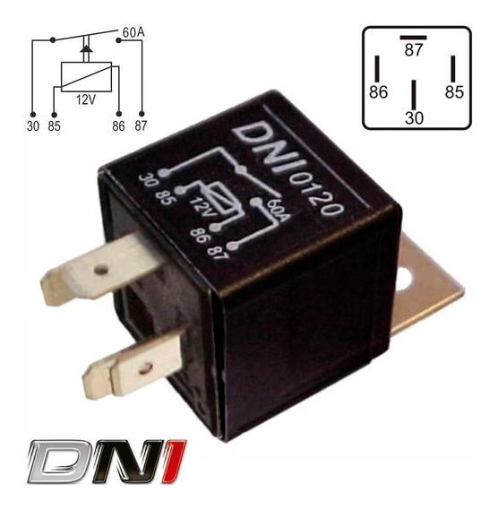 Relé Auxiliar 12v 60a 4t Universal Dni0120
