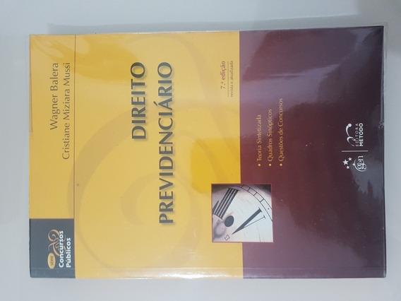 Livro Direito Previdenciário 7 Ed Atualizada