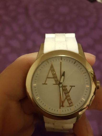 Reloj Armani Para Dama Blanco Con Dorado