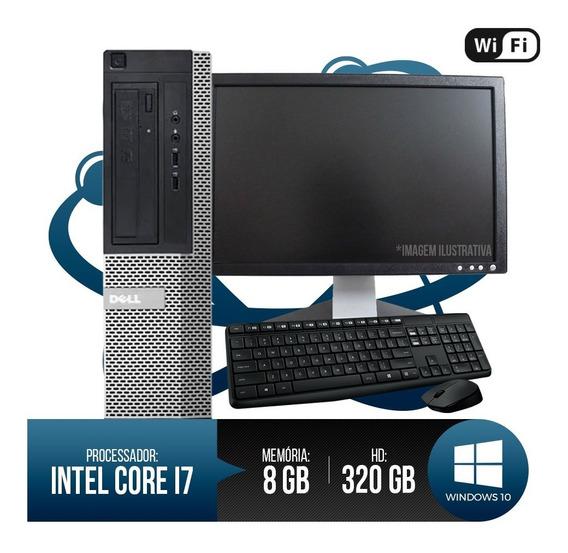 Pc Dell Completo Optiplex 7010 Core I7, 8gb Ram, Hd 320gb...