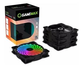 Kit 4 Cooler Fan Rgb 120mm Gamemax Cl400 + Controle Remoto