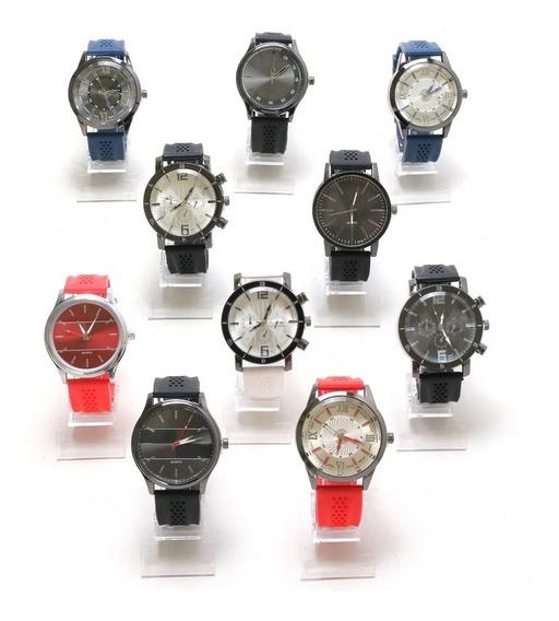 Promoção 18 Relógios Masculino Silicone Pra Revenda Oferta