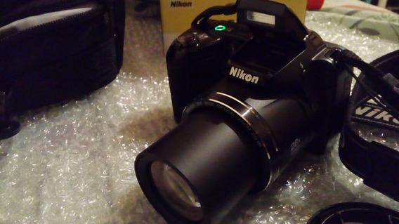 Cámara Nikon Coolpix L340 20.2 Megapixels + Bolso Excelente!