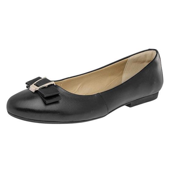 069-662 Flats P/dama Color Negro Mod. 47303 Flexi Original