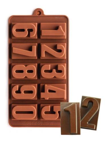 Molde De Silicona Números - Chocolate Repostería Cumpleaños