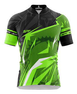 Camisa Spartan W (f) - Ciclista - Green - Ref 21 - Uv50+