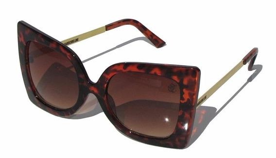 Óculos De Sol 6021 Hardcore Line - Estampado Marrom