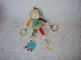 Pelucia Macaco Mobile Chocalho Para Bebe Baby Fehn Tam 39cm