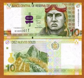 Perú 10 Novos Soles 2013 P. 187 Fe Cédula - Tchequito