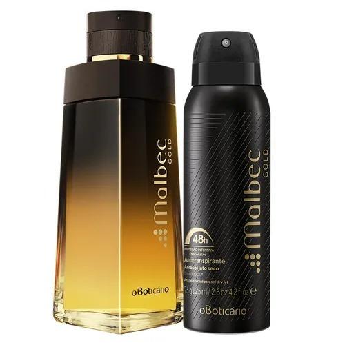 Combo Malbec Gold: Des. Colônia + Desodorante Aerosol