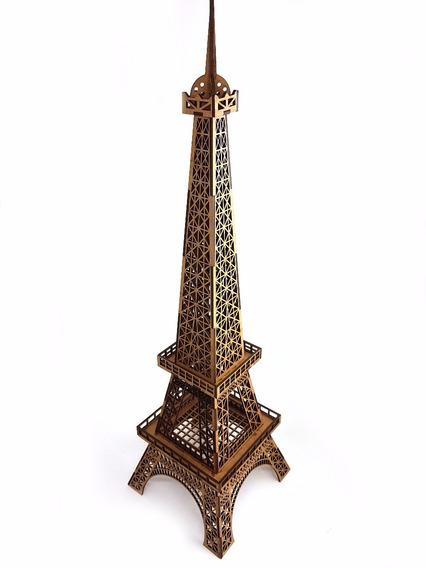 Torre Eiffel Mdf Cru Decoração Artesanato Desmontada Paris