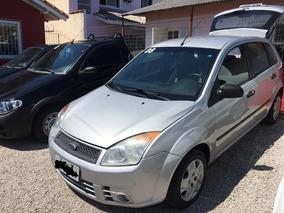 Ford Fiesta Prata Com Direção H.