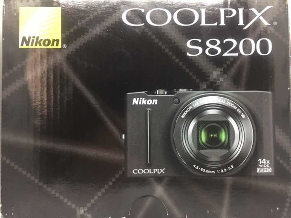 Câmera Nikon Colpix S8200 16.1mp - 2 Baterias + Acessórios