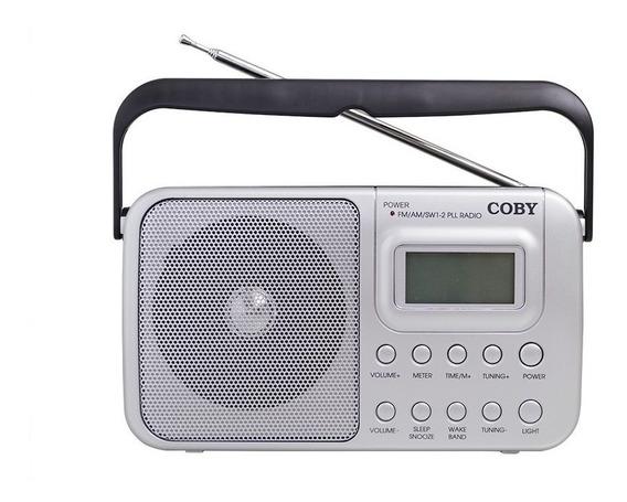 Rádio Portátil Am, Fm, Sw1, Sw2 Com Relógio E Alarme Cr201