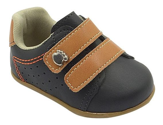 Sapato Infantil Masculino Menino Preto Pé Com Pé