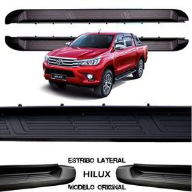 Estribo Nova Hilux 16/17 Modelo Original Lateral-preto Innox