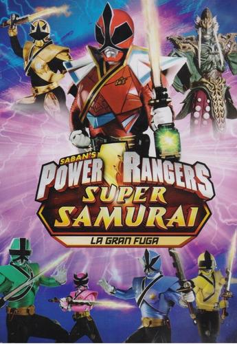 Power Rangers Super Samurai La Gran Fuga Pelicula Dvd