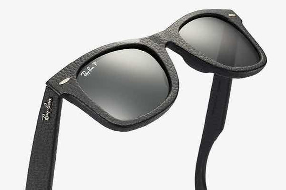 Óculos Rayban Wayfarer Em Couro Original Made In Italy