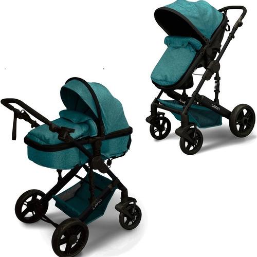 Cochecito Mega Baby Cuna Paseo Bebe Lanin Convertible En Asiento Y Moises Estructura Resistente Plegable Liviano