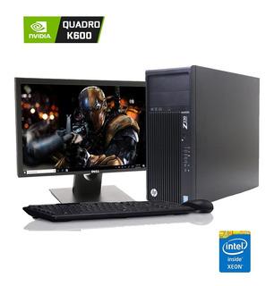 Servidor Xeon Workstation Hp Tower Z230 Monitor 22