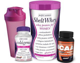 Whey Protein Sbelt Whey + Bcaa + Colágeno + Brinde