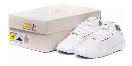 Tênis adidas Hu Pharrell Williams Branco Com Frete Grátis