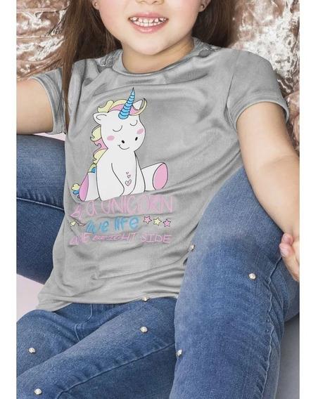 Playera Niña Girls Unicornio Dreams Efecto Metalico 1391039