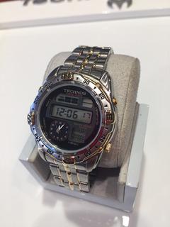 Reloj Pulsera Technos Chrono Alarm Acero Doble Uso Horario