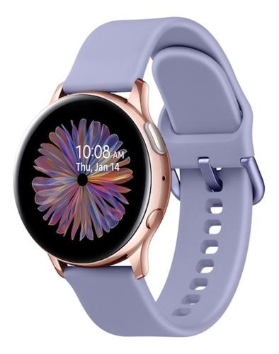 """Samsung Galaxy Watch Active2 (Bluetooth) 1.2"""" caja 40mm de  aluminio  rose gold malla  phantom violet de  fluoroelastómero SM-R830"""