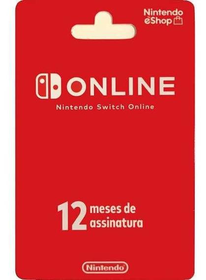 Cartão Nintendo Switch Online 12 Meses Brasil