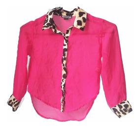 Blusa Fucsia Leopardo Niña Navidad Regalo Amor Moda American