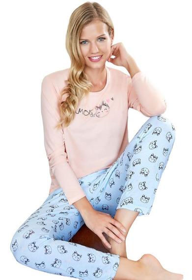 Pijama Invierno Mujer Susurro 2601 Talles Grandes Hasta El 8