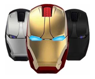 Mouse Inalambrico Iron Man ( Pilas Gratis )