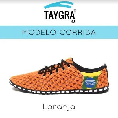 Tênis Taygra Modelo Corrida Comfort Laranja Fluorescente