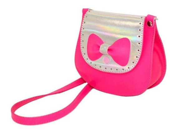 Bolsa Infantil Princesa Pink Sintética Metalizada