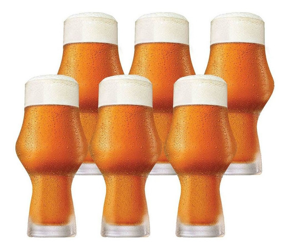 Jogo Conjunto Copo Cerveja Kit Craft Beer Ipa 495ml 6 Pcs