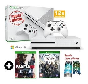 Xbox One S 1tb Slim Mafia 3 + Brinde Hdr Blu-ray 4k Lacrado