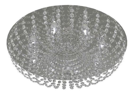 Plafon Lustre De Cristal 50cm Sala Hall Quarto C/ Led 952