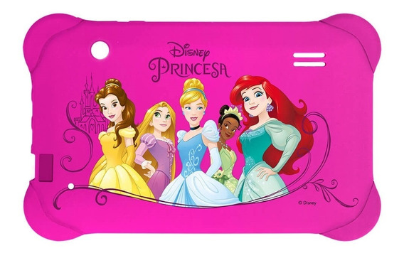 Case Para Tablet 7 Pol. Disney Princesas Rosa Pr939 Multilas
