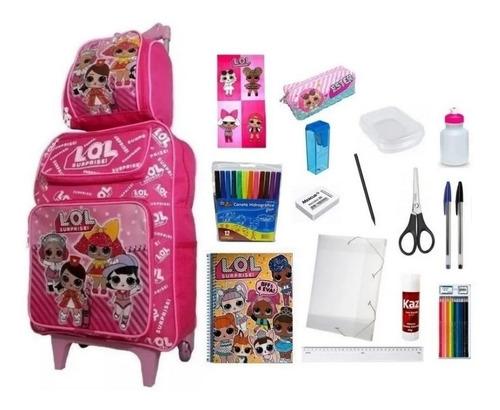 Kit Escolar Da Lol Surprise Completo Com 19 Itens