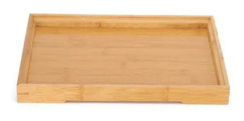 Tábua Em Bambu Bandeja Decoração 22x13 Travessa Retangular