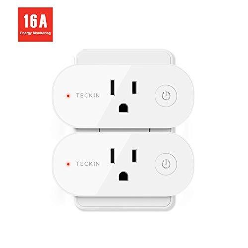 Smart Plug Wifi Salida 16a Compatible Con Alexa, Google Cas