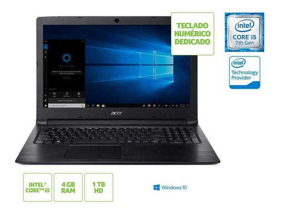 Notebook Acer Com Teclado Numerico A315-53-55dd I5 7200u 4gb 1tb Win10 15.6 Hd Preto / Nfe