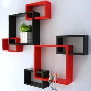 Estantes Repisas Minimalistas Cubo Geometrico Moderno